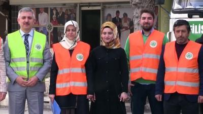 Evlenecek 100 Filistinli çiftin ev eşyası ve takıları Konya'dan