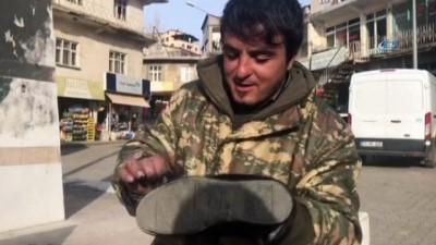 Ayakkabı boyacısından Afrin'deki Mehmetçiğe destek