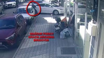 Bir kadının dolandırıcılara 28 bin lira kaptırması güvenlik kamerasına yansıdı