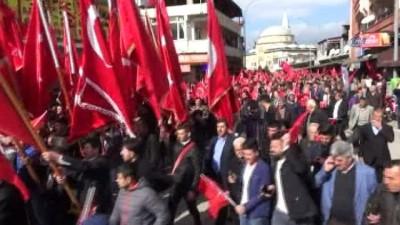 emniyet mudurlugu -  Hatay'da Afrin şehitlerine saygı Mehmetçiğe moral yürüyüşü
