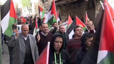 ses bombasi - İsrail askerlerinden Batı Şeria'daki gösterilere müdahale - EL HALİL