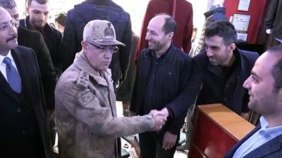 Jandarma Genel Komutanı Orgeneral Çetin, esnaf ve vatandaşlarla bir araya geldi - SİİRT