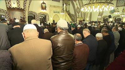 Diyanet İşleri Başkanı Erbaş, Hatay'da sabah namazını kıldırdı (1)