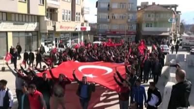 Doğanşehir'de Mehmetçiğe destek yürüyüşü