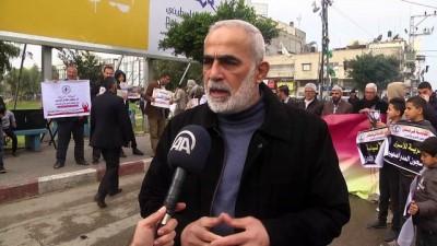 Filistinli idari tutuklulara destek gösterisi - GAZZE