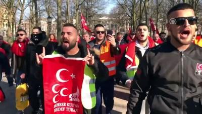 Hollanda'da 'TSK'ye destek, PKK'yı protesto' yürüyüşü - LAHEY
