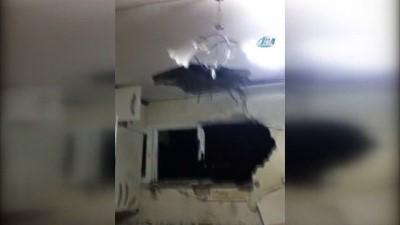 Kilis'e düşen roket bir evin mutfağına isabet etti
