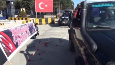 'Offroad'culardan Mehmetçiğe destek konvoyu
