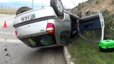 Bilecik'te otomobil takla attı: 2 yaralı