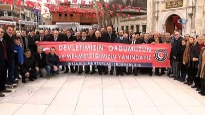 İstanbul Muhtarlar Federasyonu Mehmetçik'e destek için sınıra gidiyor