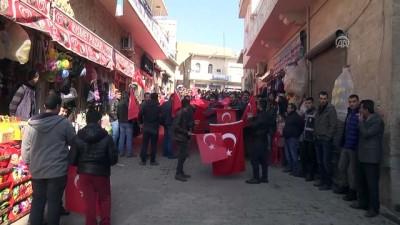 Savur'da Zeytin Dalı Harekatı'na destek yürüyüşü - MARDİN
