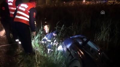 Kanala devrilen otomobilin sürücüsü kurtarıldı - MUĞLA
