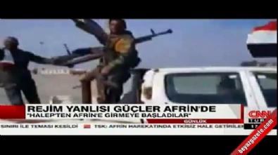 Milisler Afrin'e girmeye başladı