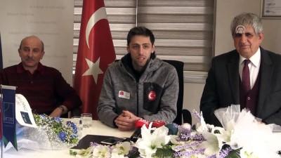 Milli sporcu Fatih Arda'ya ödül - ERZURUM