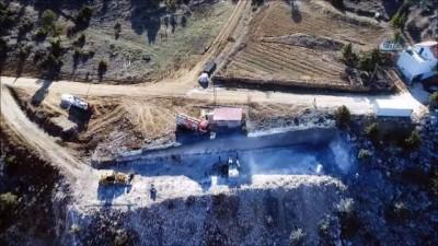 Sertavul geçidinde tünel ve viyadük çalışmaları havadan görüntülendi