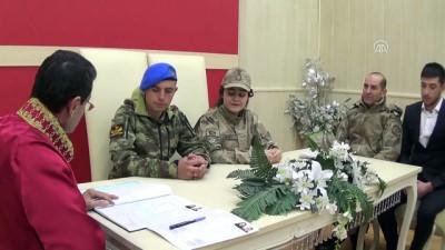 Nikah törenlerine üniformalarıyla geldiler - KAHRAMANMARAŞ