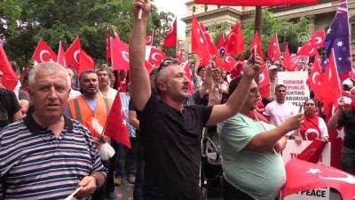 Avustralya'da Türkiye'ye destek gösterisi - MELBOURNE