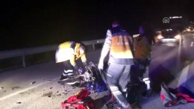 Devrilen motosikletin sürücüsü öldü - EDİRNE