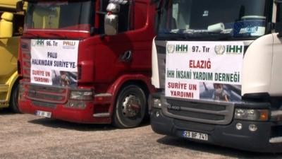 Elazığ'dan 17 Tır yardım Suriye'ye doğru yola çıktı