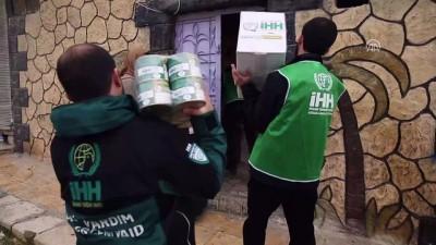 İHH, Dayr Savvan köyündeki sivillere yardım ulaştırdı - AFRİN