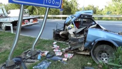 Otomobil ikiye bölündü: 1 ağır yaralı