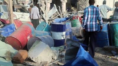 Somali'de bomba yüklü araçlarla saldırı - olay yeri - MOGADİŞU