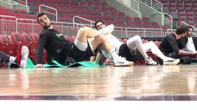 A Milli Basketbol Takımı'nda Letonya maçı hazırlıkları - RİGA
