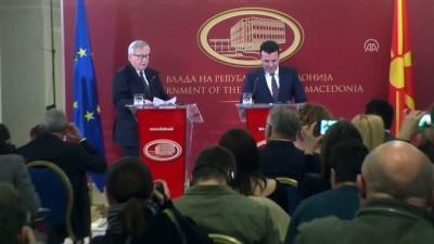 AB Komisyonu Başkanı Juncker, Makedonya'da - ÜSKÜP
