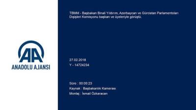 Başbakan Yıldırım'ın Azerbaycan ve Gürcistan heyetini kabulü - ANKARA