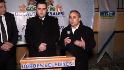 Gördes'te doğalgaz meşalesi dualarla yakıldı