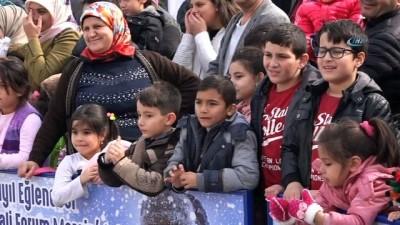 Mersin'de Kar Festivali coşkusu