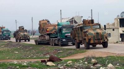 TSK konvoyu, yeni gözlem noktası için İdlib bölgesine intikal etti