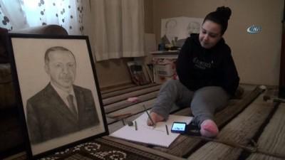 Bedensel engelli geç kızdan 'Zeytin Dalı Harekatı'na anlamlı destek