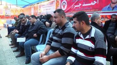 Hamas öldürülen Filistinli Cerrar için taziye çadırı kurdu - GAZZE