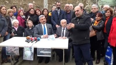 Heyelan bölgesindeki mahalleliden CHP'ye tepki