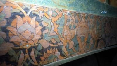 Restorasyonda yağlı boyanın altından 16'ncı yüzyıl kalem işlemesi eser ortaya çıkarıldı