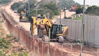 İsrail, Lübnan sınırında duvar inşa ediyor - LÜBNAN