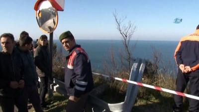 60 metreden denize uçan sürücünün cansız bedenine ulaşıldı