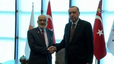 Cumhurbaşkanı Erdoğan, Saadet Partisi Genel Başkanını kabul etti
