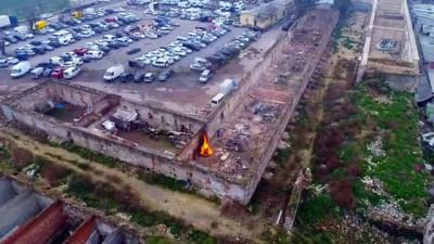 Restorasyon değil adeta tarihi eser cinayeti...Rami Kışlası havadan görüntülendi