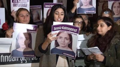 Şişli'de kadın cinayetlerine portakallı protesto