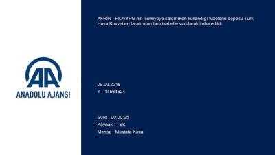 (TEKRAR) PYD/PKK'nin füze deposu TSK tarafından imha edildi - AFRİN