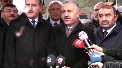 Bakan Arslan ve Bak Cankurtaran Tüneli'ni ulaşıma açtı (1) - ARTVİN