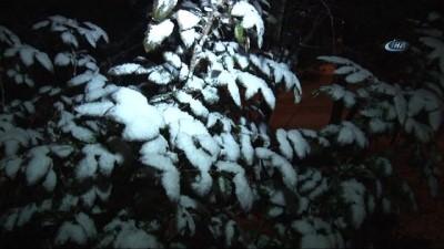Başkent'e 2018'in ilk karı yağdı