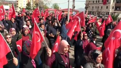 Erzincan Belediyesi Mehteran Takımı eşliğinde Zeytin Dalı Harekatı'na destek yürüyüşü - HATAY