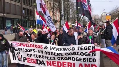Hollanda'da ırkçı PEGIDA yürüyüşü  - AMSTERDAM