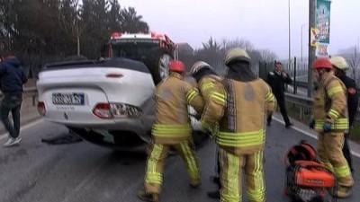Kadıköy'de ilginç kaza, inanılmaz kurtuluş: 1 yaralı
