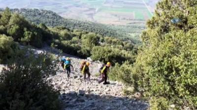100 metrede mahsur kalan keçiyi DAK kurtardı
