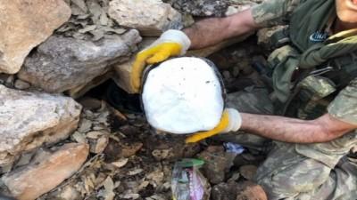 Mardin kırsalında ele geçirilen 1 ton patlayıcı böyle imha edildi