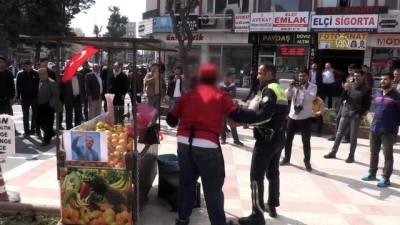 Eylem yapan seyyar satıcı ikna edildi - ŞANLIURFA